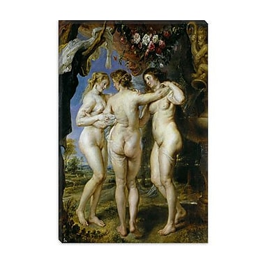 iCanvas 'The Three Graces' by Peter Paul Rubens Painting Print on Canvas; 18'' H x 12'' W x 1.5'' D