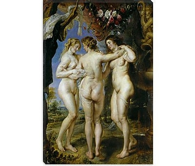 iCanvas 'The Three Graces' by Peter Paul Rubens Painting Print on Canvas; 40'' H x 26'' W x 0.75'' D