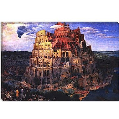 iCanvas 'The Tower of Babel' by Pieter Bruegel Painting Print on Canvas; 26'' H x 40'' W x 0.75'' D