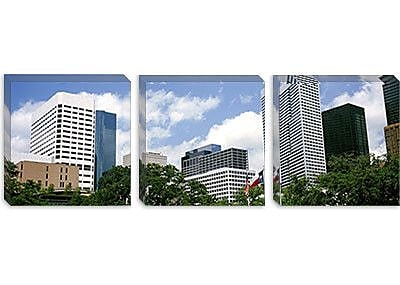 iCanvas Panoramic Skyscrapers in a City, Houston, Texas Photographic Print on Canvas