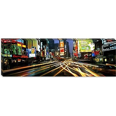 iCanvas Panoramic Times Square New York Photographic Print on Canvas; 24'' H x 72'' W x 1.5'' D