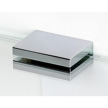 Alno Contemporary II Shelf Brackets Only w/ Brass Construction (Set of 2); Polished Nickel