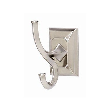 Alno Geometric Wall Mounted Robe Hook; Polished Antique