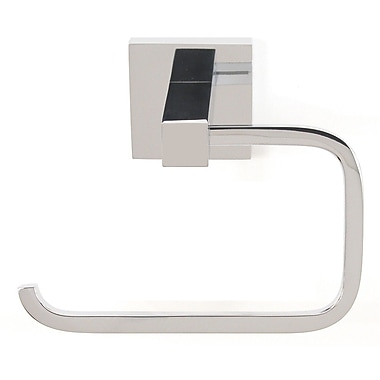 Alno Contemporary II Wall Mounted Single Post Toilet Paper Holder; Polished Chrome