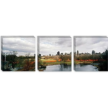 iCanvas Panoramic 'The Gates of Central Park, Manhattan' Photographic Print on Canvas