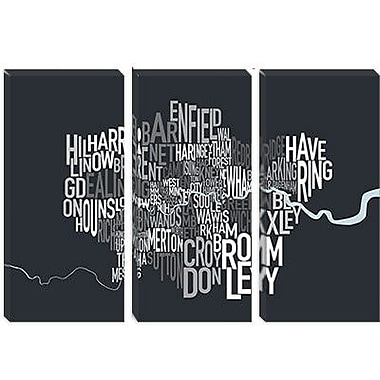 iCanvas 'London Text Map' by Michael Tompsett Textual Art on Canvas; 18'' H x 26'' W x 0.75'' D