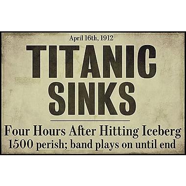 iCanvas Titanic Textual Art on Canvas; 18'' H x 26'' W x 0.75'' D