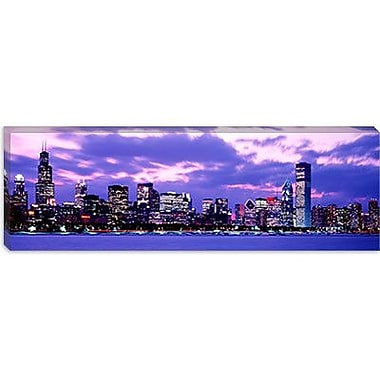 iCanvas Panoramic Sunset Chicago, Illinois Photographic Print on Wrapped Canvas