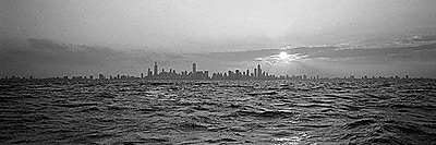 iCanvas Panoramic Sunset over a City, Chicago, Illinois Photographic Print on Wrapped Canvas