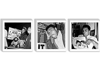 iCanvas 'Muhammad Ali Reading a Magazine, 1970's' Photographic Print on Canvas