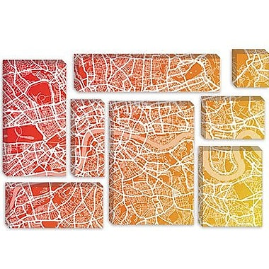 iCanvas 'London Map IX' by Michael Tompsett Graphic Art on Canvas; 18'' H x 26'' W x 0.75'' D