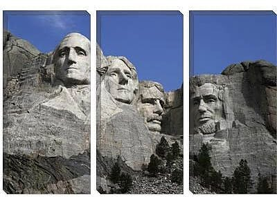 iCanvas Political Mount Rushmore Photographic Print on Canvas; 26'' H x 40'' W x 0.75'' D
