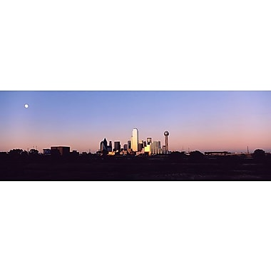 iCanvas Panoramic Sunset Skyline Dallas, Texas Photographic Print on Wrapped Canvas