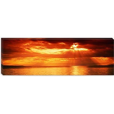 iCanvas Panoramic Sunset, Lake Geneva, Switzerland Photographic Print on Wrapped Canvas