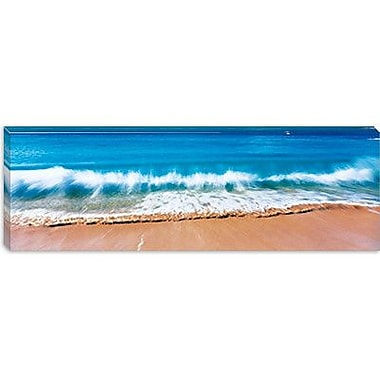 iCanvas Panoramic Surf Fountains Big Makena Beach Maui, Hawaii Photographic Print on Wrapped Canvas