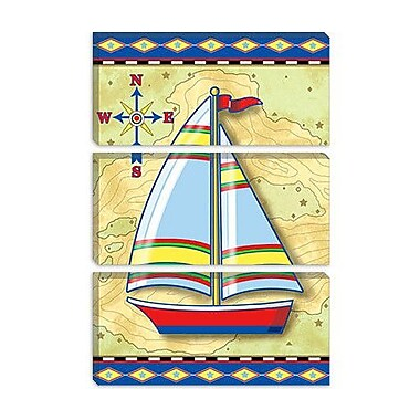 iCanvas 'Nautical V' by Michele Meissner Graphic Art on Canvas; 40'' H x 26'' W x 1.5'' D