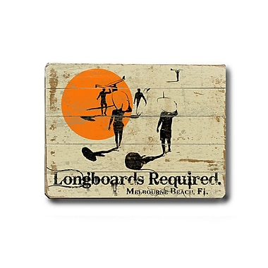 Artehouse LLC Longboards Required Vintage Advertisement Plaque