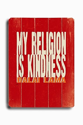 Artehouse LLC My Religion Planked by Lisa Weedn Textual Art Plaque