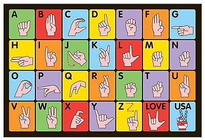 Fun Rugs Fun Time Sign Language Kids Rug; 1'7'' x 2'5''