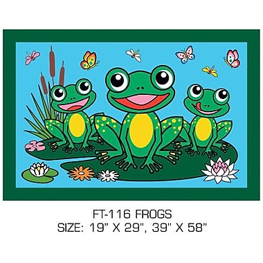 Fun Rugs Fun Time Frogs Kids Rug; 1'7'' x 2'5''