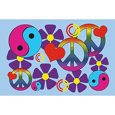 Fun Rugs Fun Time Lovely Peace Kids Rug; 3'3'' x 4'10''