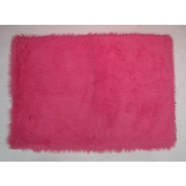 Fun Rugs Hot Pink Kids Rug; 3'3'' x 4'10''