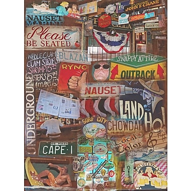 Graffitee Studios Cape Cod Land Ho - Orleans Graphic Art on Wrapped Canvas