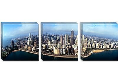 iCanvas Panoramic Waterfront at Chicago, Illinois Photographic Print on Canvas