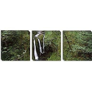 iCanvas Panoramic Triple Falls, Columbia River Gorge, Oregon Photographic Print on Canvas