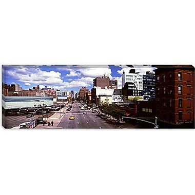 iCanvas Panoramic 10th Avenue, New York City Photographic Print on Canvas; 16'' H x 48'' W x 1.5'' D