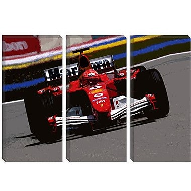 iCanvas Sports Michael Schumacher Photographic Print on Canvas; 12'' H x 18'' W x 1.5'' D