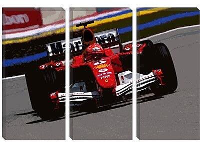 iCanvas Sports Michael Schumacher Photographic Print on Canvas; 8'' H x 12'' W x 0.75'' D