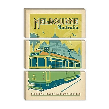 iCanvas Anderson Design Group 'Melbourne Australia' Vintage Advertisement on Canvas