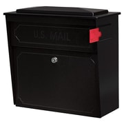 Mail Boss Townhouse Locking Wall Mounted Mailbox; Black