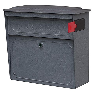 Mail Boss Townhouse Locking Wall Mounted Mailbox; Granite