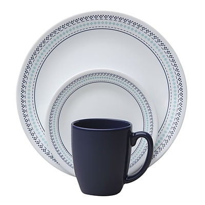 //.staples-3p.com/s7/is/. ×. Images for Corelle Livingware?  sc 1 st  Staples & Corelle Livingware? Folk Stitch 16 Piece Dinnerware Set Service for ...