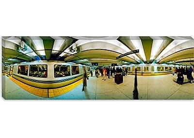 iCanvas Panoramic Bart Station, San Francisco, California Photographic Print on Canvas