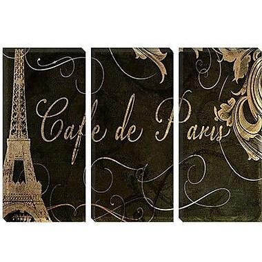 iCanvas 'Caf de Paris' by Color Bakery Vintage Advertisement on Canvas; 12'' H x 18'' W x 0.75'' D