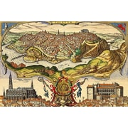 iCanvas Antique Maps ''Toledo (Spain in 1598)'' by Braun Hogenberg Graphic Art on Wrapped Canvas
