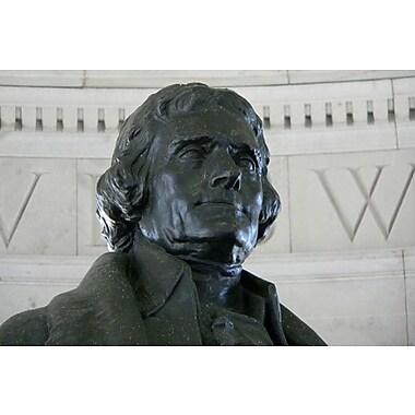 iCanvas Political Thomas Jefferson Statue Photographic Print on Canvas; 8'' H x 12'' W x 0.75'' D
