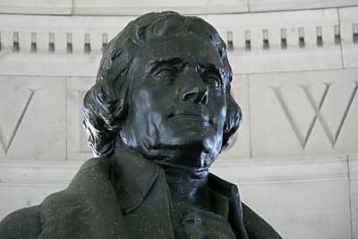 iCanvas Political Thomas Jefferson Statue Photographic Print on Canvas; 26'' H x 40'' W x 1.5'' D