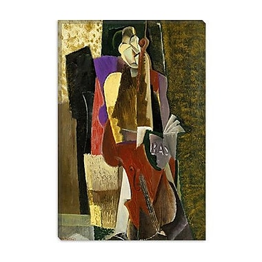 iCanvas Fine Art 'The Cellist' by Max Weber Painting Print on Canvas; 60'' H x 40'' W x 1.5'' D