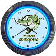 Neonetics 15'' Gone Fishing Neon Clock