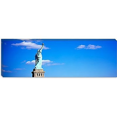 iCanvas Panoramic Statue of Liberty, New York City Photographic Print on Canvas