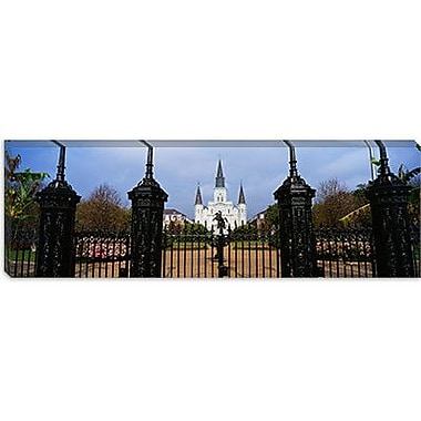 iCanvas Panoramic St. Louis Cathedral, New Orleans, Louisiana Photographic Print on Canvas