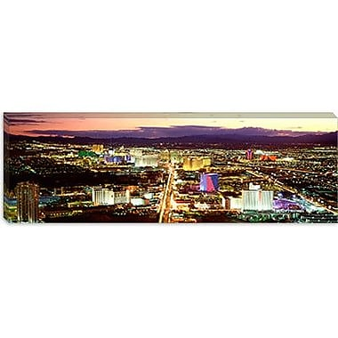 iCanvas Panoramic The Strip, Las Vegas Nevada Photographic Print on Wrapped Canvas