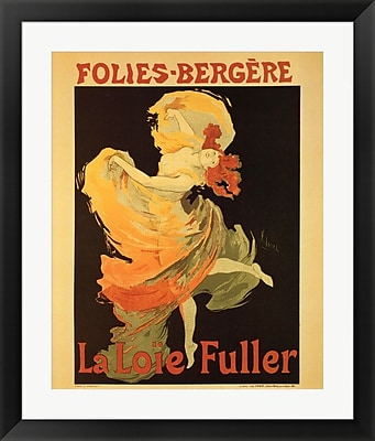 Evive Designs Folies Bergere by Jules Cheret Framed Vintage Advertisement