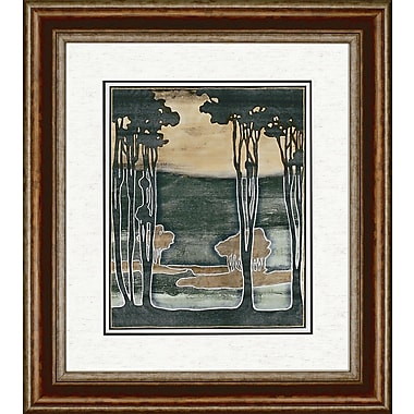 Paragon Nouveau Trees I by Goldberger Framed Painting Print