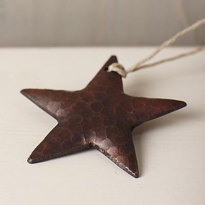 Native Trails Medium Copper Star Ornament