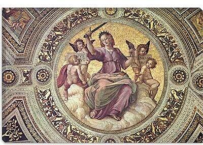 iCanvas 'Stanza Della Segnatura' by Raphael Painting Print on Canvas; 12'' H x 18'' W x 0.75'' D